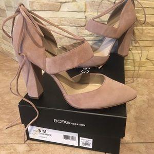 Bcbgeneration beige suede shoe 8m